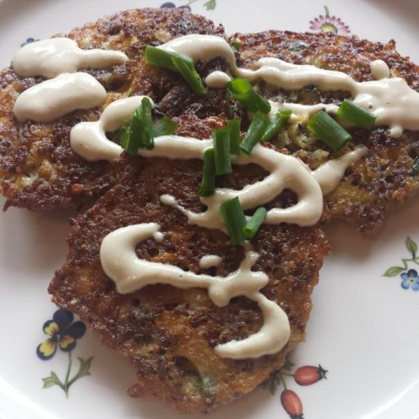 quinoa fritter