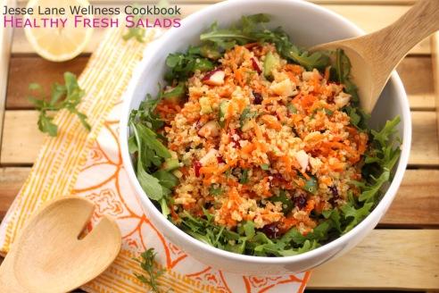 Sunshine Quinoa Salad from Jesse Lane Wellness Cookbook Healthy Fresh Salads #jlwcookbook
